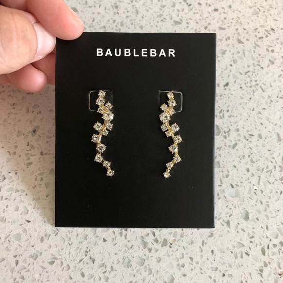"BaubleBar Jewelry - BAUBLEBAR ""Farah"" Gold Ear Crawler Earrings"